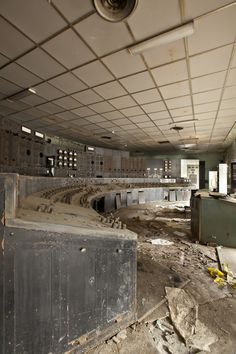Abandoned control room
