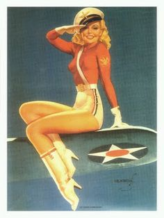 Memorial Day Pinup Girl... I love old school pin up girls, they are my inspiration. Fit & curvy ♥