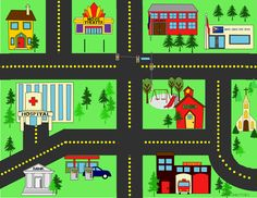 City Streets Playmat1458 DownloadsCity Streets Playmat for personal use. Download Now!(Visited 1,755 times, 15 visits today) Free Board Games, Teaching Maps, Operation Shoebox, Felt Play Mat, Maps For Kids, Transportation Theme, Operation Christmas Child, Tot School, Busy Book