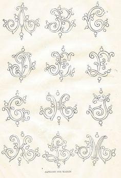 Antique Graphics Wednesday - Three 1800s Alphabet Fonts