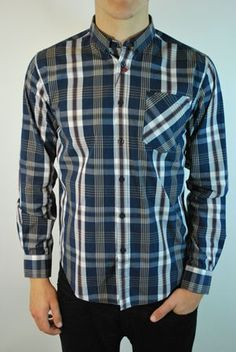 Merc Oklahoma blue check button down shirt at ScaryCanary Clothing
