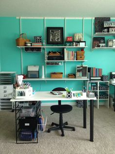 Sherwin Williams Tantalizing Teal wall colour..love it!