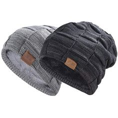 f9c0eb0c26183 REDESS Beanie Hat for Men and Women Winter Warm Hats Knit Slouchy Thick  Skullcap  fashion