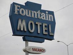 Vintage Motel Neon Sign, Close-up: Fountain Motel, Mesa, Arizona | by classic_film
