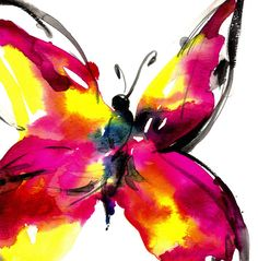 Butterfly Song 8... Original abstract by KathyMortonStanion, $50.00