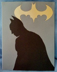 Batman with yellow bat symbol silhouette Ready by GeekSilhouettes #IGGPPC