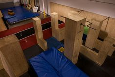 #parkour #gym #walls #ledges #vaults #bars #mats @apexmovement Parkour Gym, Dream Home Gym, Castle Project, American Ninja Warrior, Garage Gym, Obstacle Course, Backyard Games, Fitness Inspiration, Playroom
