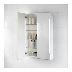 STORJORM Mirror cabinet w/2 doors & light - IKEA