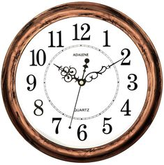 800172f3e8a Adalene 13 Inch Large Non Ticking Silent Wall Clock Decorative