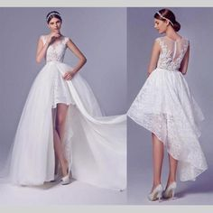 High Low Wedding Dress With Detachable Skirt Short Front Long Back Layered Lace . High Low Wedding Dress With Detachable Skirt Short Front Long Back Layered Lace 2016 See Through Bride Bridal Gown Arabic Wedding Dresses, Wedding Dress Patterns, Long Wedding Dresses, Cheap Wedding Dress, Boho Wedding Dress, Bridal Dresses, Wedding Gowns, Wedding Venues, Lace Wedding