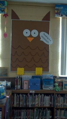 "Owl bulletin board- I'd like the caption ""preschool is a hoot"""