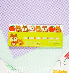 """Pikku Shop is a web store where cuteness, fresh designs and interesting products come together in perfect harmony. """"Pikku Shop, where it's cherry blossom season all year round! Cherry Blossom Season, Kawaii Stickers, Cute Stationery, Sticky Notes, Squirrel, Markers, Seasons, Create, Mini"""