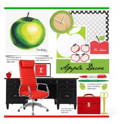 """""""What's on My Desk?.."""" by vkevans ❤ liked on Polyvore featuring interior, interiors, interior design, home, home decor, interior decorating, Sharpie, aNYthing, Daum and OHBA"""