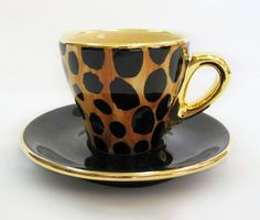 cheetah print, espresso cup! love it.