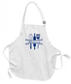Personalized Apron.  Baker Design with personalization.  Gift for Her, Gift for Him