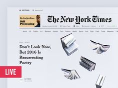 Ознакомьтесь с этим проектом @Behance: «The New York Times Redesign» https://www.behance.net/gallery/47160365/The-New-York-Times-Redesign