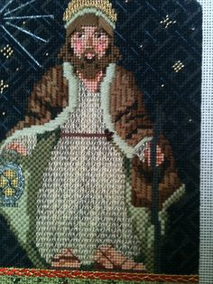steph's stitching: Kelly Clark's Nativity Characters (needlepoint)with Amy Bunger stitch guides