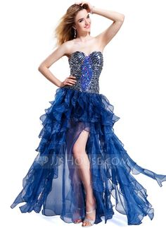 Prom Dresses - $168.99 - A-Line/Princess Sweetheart Floor-Length Organza Prom Dress With Beading Sequins Cascading Ruffles (018019095) http://jjshouse.com/A-Line-Princess-Sweetheart-Floor-Length-Organza-Prom-Dress-With-Beading-Sequins-Cascading-Ruffles-018019095-g19095
