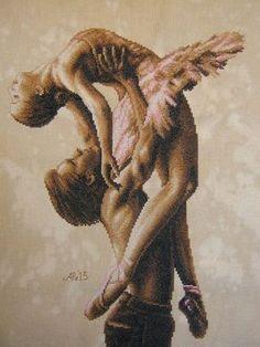 schema punto croce ballerini   Hobby lavori femminili - ricamo - uncinetto - maglia