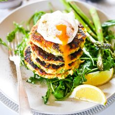 Asparagus and Zucchini Fritters