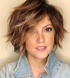 Haircuts For Thin Fine Hair, Short Layered Haircuts, Short Bob Hairstyles, Wedding Hairstyles, Short Shaggy Bob, Formal Hairstyles, Short Cuts, Modern Haircuts, Celebrity Hairstyles