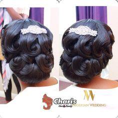 Nigerian wedding black bridal hair ideas and inspiration 41