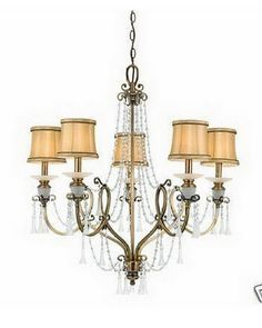 Quoizel Lighting MK5005 WS Beverly Collection Five Light Hanging Chandelier in Weathered Brass Finish