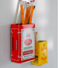 Spice tins to magnetic storage containers in just one simple step by A Pretty Cool Life, featured @totgreencrafts