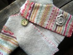 a mess of things: Felted Baby Sweaters