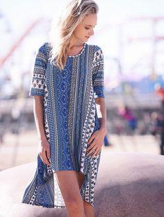 D3179 Heather Dress - Blue