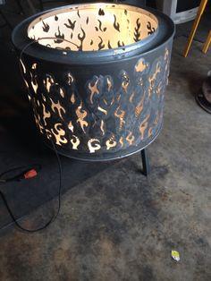 Dryer drum fire pit