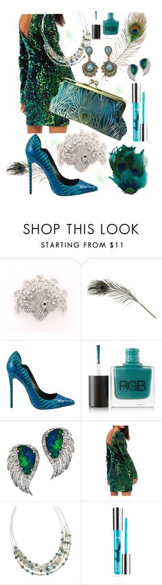 """Peacock Fabulous!"" by crystalitzy ❤ liked on Polyvore featuring HAY, Lust For Life, RGB, Plukka, BillyTheTree, Heidi Daus and PurMinerals"
