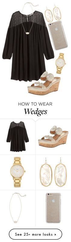 """""""Today felt like a Friday """" by madelyn-abigail on Polyvore featuring H&M, Jack Rogers, Case-Mate, Kate Spade and Kendra Scott"""