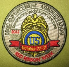 Girl Scout 100th Anniversary year Red Ribbon Week patch.
