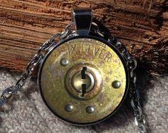 Vintage Lock pendant Lock necklace Lock jewelry Vintage by Aranji