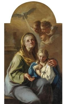 "theraccolta:  "" Saint Anne and the Virgin Mary by Francesco de Mura  """