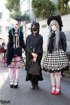 Japanese Shironuri Fashion in Harajuku A mix of Goth, victorian inspired and lolita