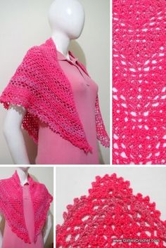 Free crochet pattern: Paz Prayer Shawl (with photo tutorial in each step.