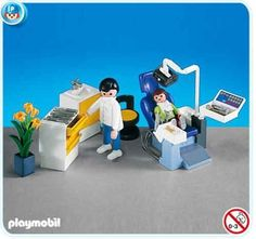 Playmobil Dentist`s Office by Playmobil. $20.99. This item is part of the Direct Service range. This range of products are intended as accessories for or additions to existing Playmobil sets. For this reason these items come in clear plastic bags or brown cardboard boxes instead of a colorful retail box.. Open your mouth!