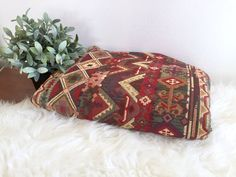 Kilim Upholstery Fabric / Bohemian Ethnic Tribal by ShopRachaels