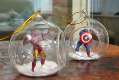 The Alchymyst's Study -  Iron Man and Captain America Christmas Ornaments