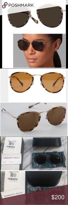 OLIVER PEOPLES J GOLD POLARIZED BROWN SUNGLASSES UNISEX OLIVER PEOPLES J GOLD STYLE BROWN  HAVANA/GOLD COLORED FRAMES POLARIZED LENSES, DID NOT KNOW FOR BOTH WOMAN AND MEN, LIKE PIC 4 WITH KATE BECKINSALE WEARING THIS STYLE NEVER WORN ,NEW ON BOX Oliver Peoples Accessories Sunglasses