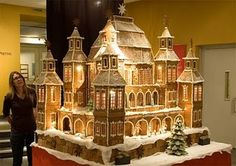 Gingerbread house on the grandest scale possible. Might require a civil engineer and a building permit.