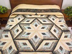 Diamond Star Log Cabin Quilt