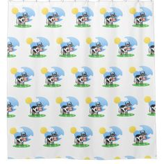 #Funny pictures. Cow. Shower Curtain - #Bathroom #Accessories #home #living