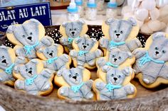 Teddy Bear Cookies, Galletas decoradas ositos de peluche by Atelier Pastry Fork