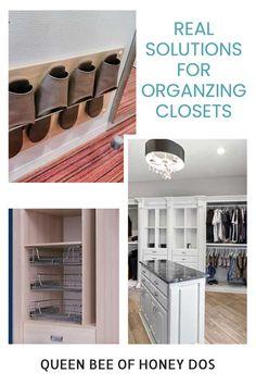 Solutions to organize your closets to their most efficient space. Small or large, the best ideas! #closets #solutions #storage Make A Closet, Neat And Tidy, Closet Organization, Storage Solutions, Closets, Organize, Diy Projects, Space, Room