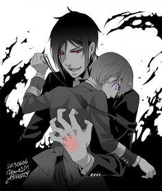 black butler demon sebastian and ciel