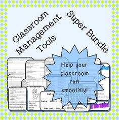 Improve your classroom management with this bundle of over 50 pages of classroom management resources!
