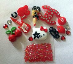 Red Kawaii DIY Cellphone Kit by CandyCells on Etsy